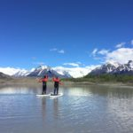 Alaska Stand Up Paddle Board Paddling High Five