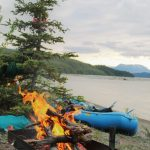 Enjoy campfires on River to Riches Alaska Rafting trip in WSENP