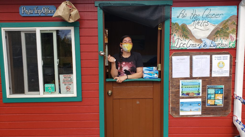 As the Glacier Melts Cafe in McCarthy Alaska - expresso and icecream