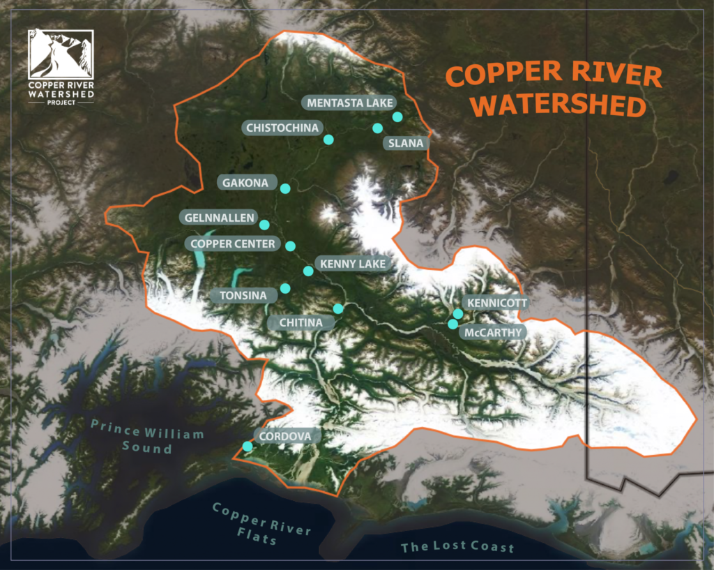 Best Map of Copper River Watershed