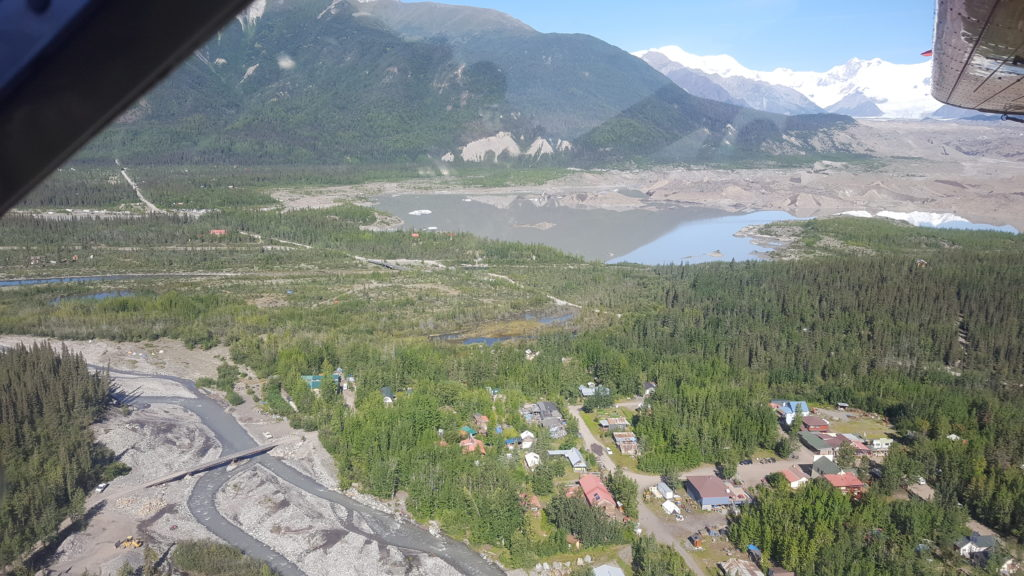Overlooking The Town of McCarthy Alaska